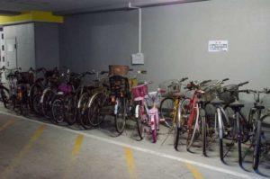 マンションの自転車置場
