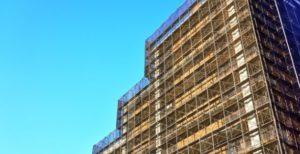 マンションの大規模修繕工事の様子