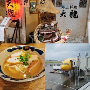 那覇空港の郷土料理天龍の沖縄そばの写真