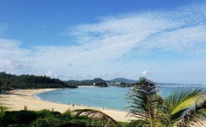 沖縄ブセナテラスの晴れた時のビーチの写真