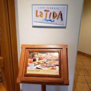 ブセナテラスのラ・ディーダの朝食の案内