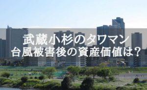 多摩川からの武蔵小杉のタワーマンション群の景色