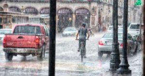ゲリラ豪雨のときの街中の様子